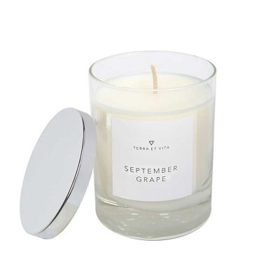 September Grape Candle