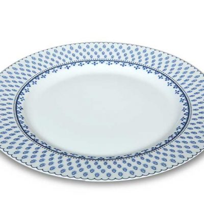 Ornate Blue Dinner Plate