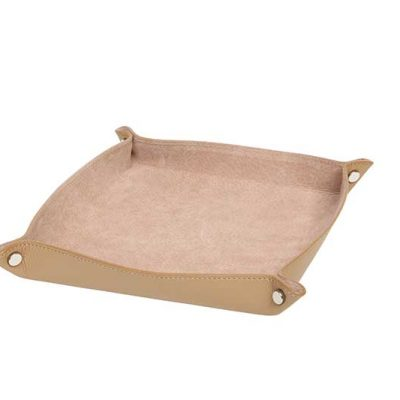 Leather Change Tray Biscuit