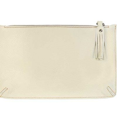 Classic Leather Pouch Cream