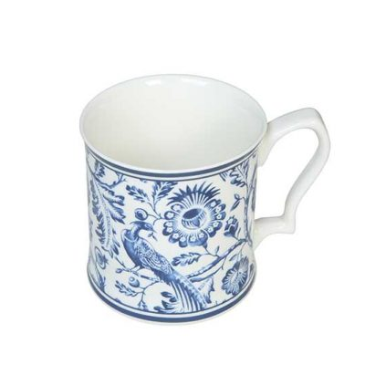 Ornate Blue Mug