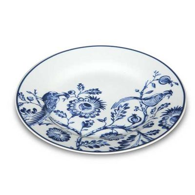 Ornate Blue Dessert Plate