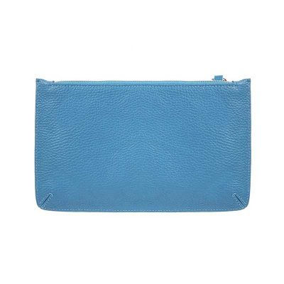 Classic Leather Pouch Turquoise