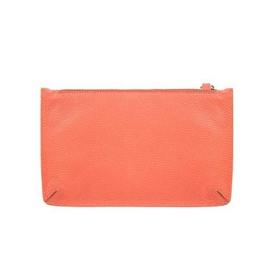 Classic Leather Pouch Coral