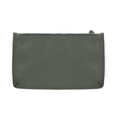 Classic Leather Pouch Verde