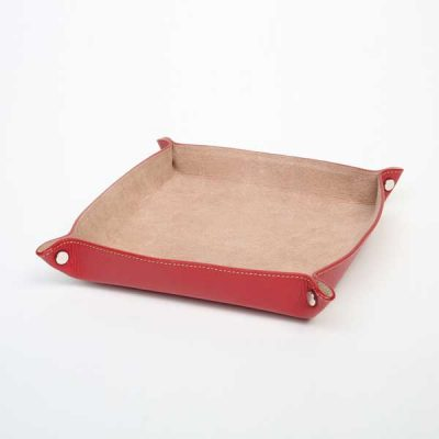 Leather Change Tray Cherry
