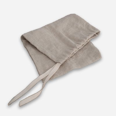 Linen Bread Bag in Natural