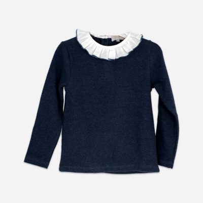 Ruffle Jumper Blue