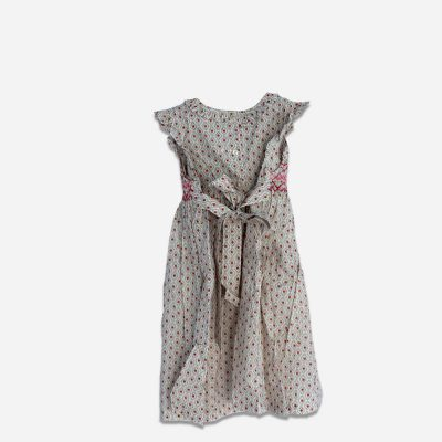 Cotton sleeveless smock dress