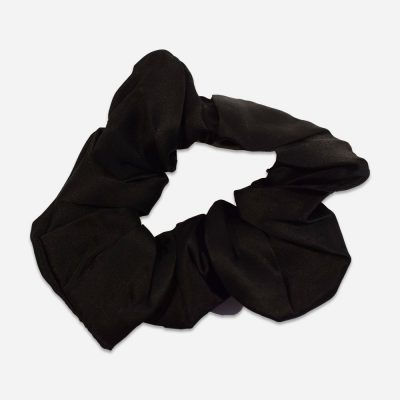 Silk Scrunchie – Black