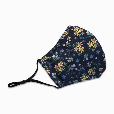 Cotton face mask with filter – Floral
